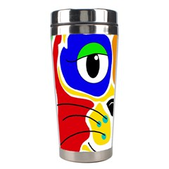 Colorful cat Stainless Steel Travel Tumblers