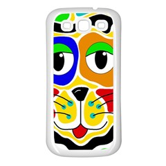 Colorful cat Samsung Galaxy S3 Back Case (White)
