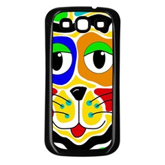 Colorful cat Samsung Galaxy S3 Back Case (Black)