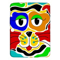 Colorful cat Samsung Galaxy Tab 3 (10.1 ) P5200 Hardshell Case