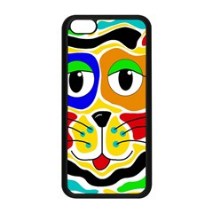 Colorful cat Apple iPhone 5C Seamless Case (Black)