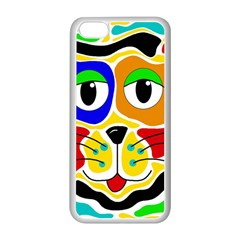 Colorful cat Apple iPhone 5C Seamless Case (White)