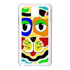 Colorful cat Samsung Galaxy Note 3 N9005 Case (White)