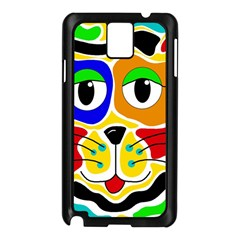 Colorful cat Samsung Galaxy Note 3 N9005 Case (Black)