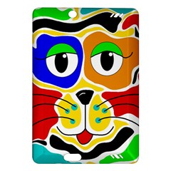 Colorful cat Amazon Kindle Fire HD (2013) Hardshell Case