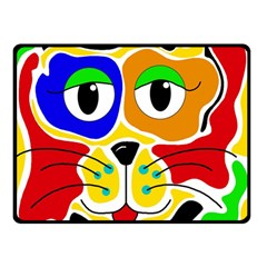 Colorful cat Double Sided Fleece Blanket (Small)