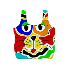 Colorful cat Full Print Recycle Bags (S)
