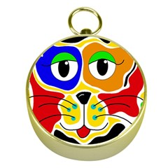 Colorful cat Gold Compasses