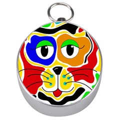 Colorful cat Silver Compasses