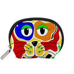 Colorful cat Accessory Pouches (Small)