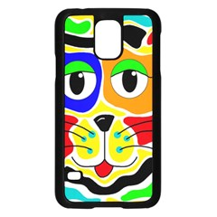 Colorful cat Samsung Galaxy S5 Case (Black)