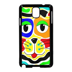 Colorful cat Samsung Galaxy Note 3 Neo Hardshell Case (Black)