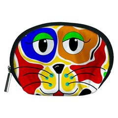 Colorful cat Accessory Pouches (Medium)