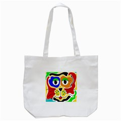 Colorful cat Tote Bag (White)