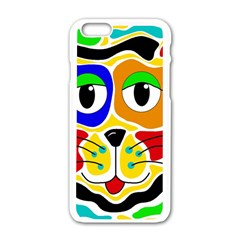 Colorful cat Apple iPhone 6/6S White Enamel Case