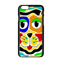 Colorful cat Apple iPhone 6/6S Black Enamel Case