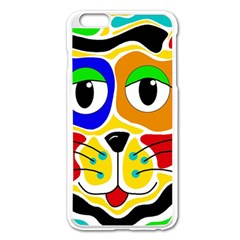 Colorful cat Apple iPhone 6 Plus/6S Plus Enamel White Case
