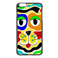 Colorful cat Apple iPhone 6 Plus/6S Plus Black Enamel Case