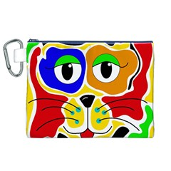 Colorful cat Canvas Cosmetic Bag (XL)