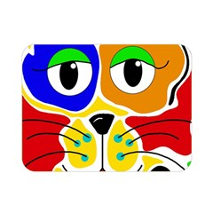 Colorful cat Double Sided Flano Blanket (Mini)