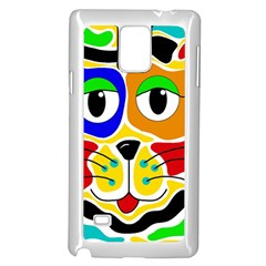 Colorful cat Samsung Galaxy Note 4 Case (White)