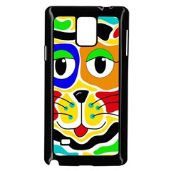 Colorful cat Samsung Galaxy Note 4 Case (Black)