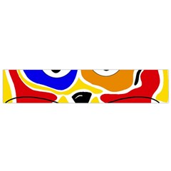 Colorful cat Flano Scarf (Small)
