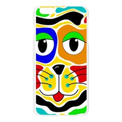 Colorful cat Apple Seamless iPhone 6 Plus/6S Plus Case (Transparent)