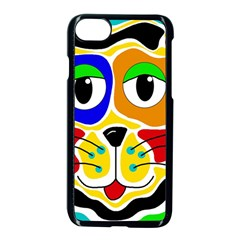 Colorful cat Apple iPhone 7 Seamless Case (Black)