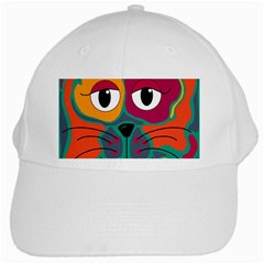 Colorful cat 2  White Cap