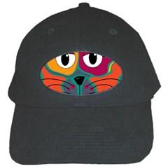Colorful cat 2  Black Cap