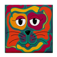 Colorful cat 2  Tile Coasters