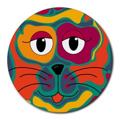 Colorful cat 2  Round Mousepads