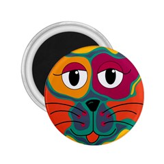 Colorful cat 2  2.25  Magnets