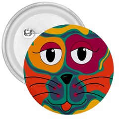 Colorful cat 2  3  Buttons