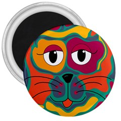 Colorful cat 2  3  Magnets