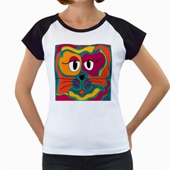 Colorful cat 2  Women s Cap Sleeve T