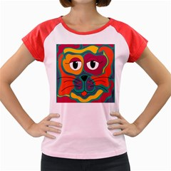 Colorful cat 2  Women s Cap Sleeve T-Shirt