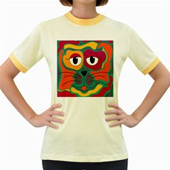 Colorful cat 2  Women s Fitted Ringer T-Shirts