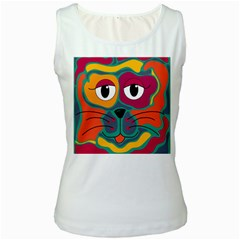 Colorful cat 2  Women s White Tank Top
