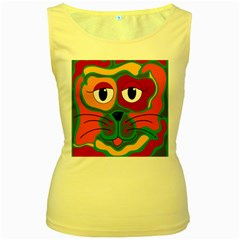 Colorful cat 2  Women s Yellow Tank Top