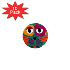 Colorful cat 2  1  Mini Magnet (10 pack)