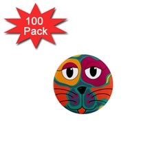 Colorful cat 2  1  Mini Magnets (100 pack)