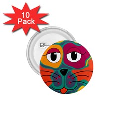 Colorful cat 2  1.75  Buttons (10 pack)