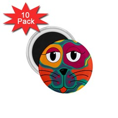 Colorful cat 2  1.75  Magnets (10 pack)