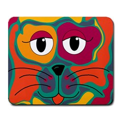 Colorful cat 2  Large Mousepads