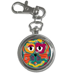 Colorful cat 2  Key Chain Watches