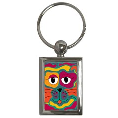 Colorful cat 2  Key Chains (Rectangle)