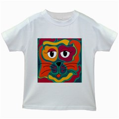 Colorful cat 2  Kids White T-Shirts