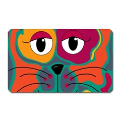 Colorful cat 2  Magnet (Rectangular)